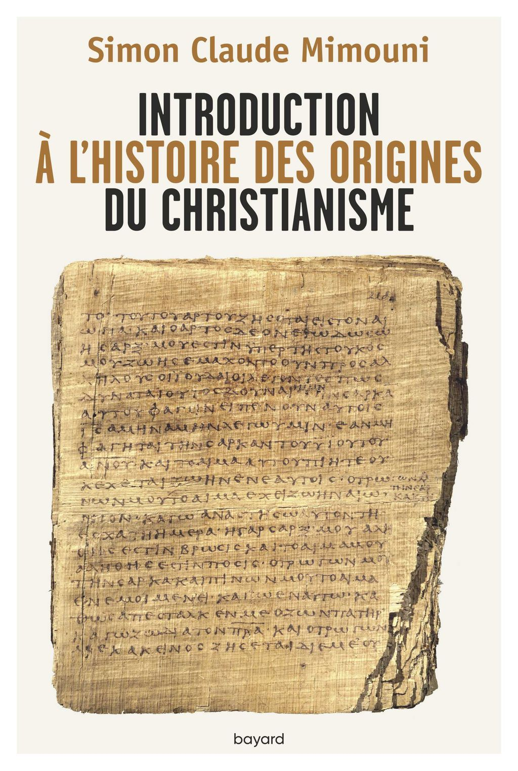 Couverture de « Introduction à l'histoire des origines du christianisme »