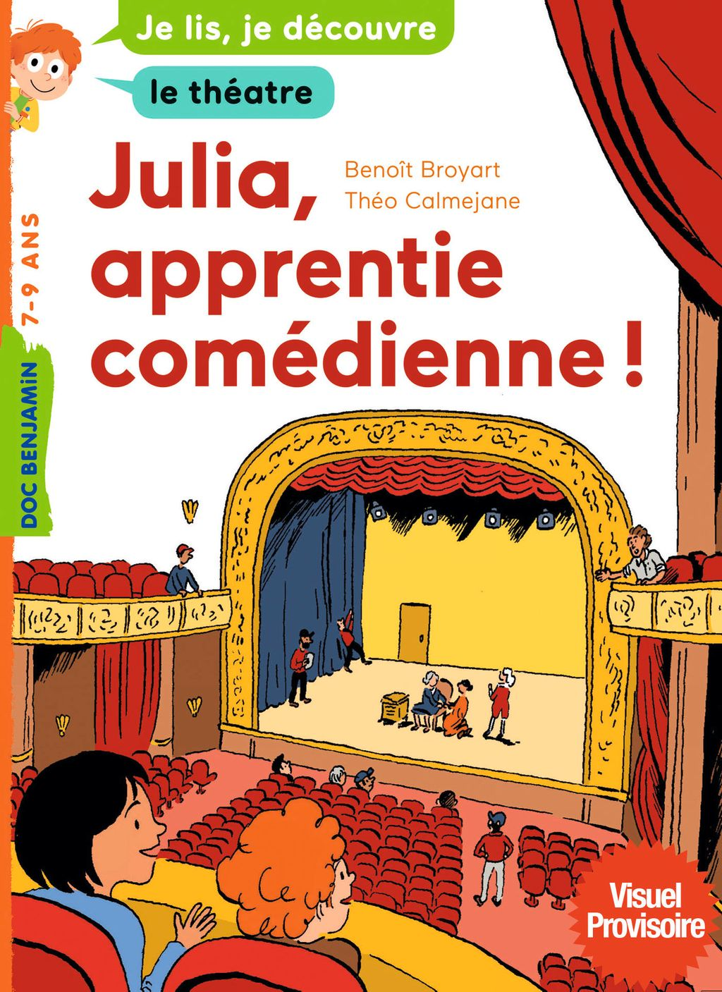 Couverture de « Julia, apprentie comédienne »
