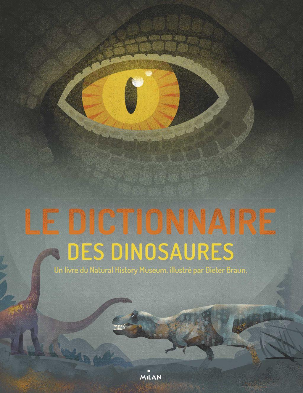 Couverture de «Le dictionnaire des dinosaures»