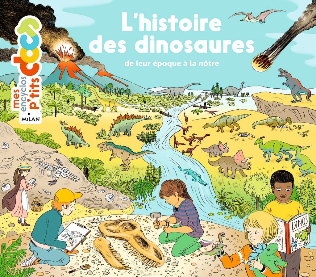 Couverture de «L'histoire des dinosaures»