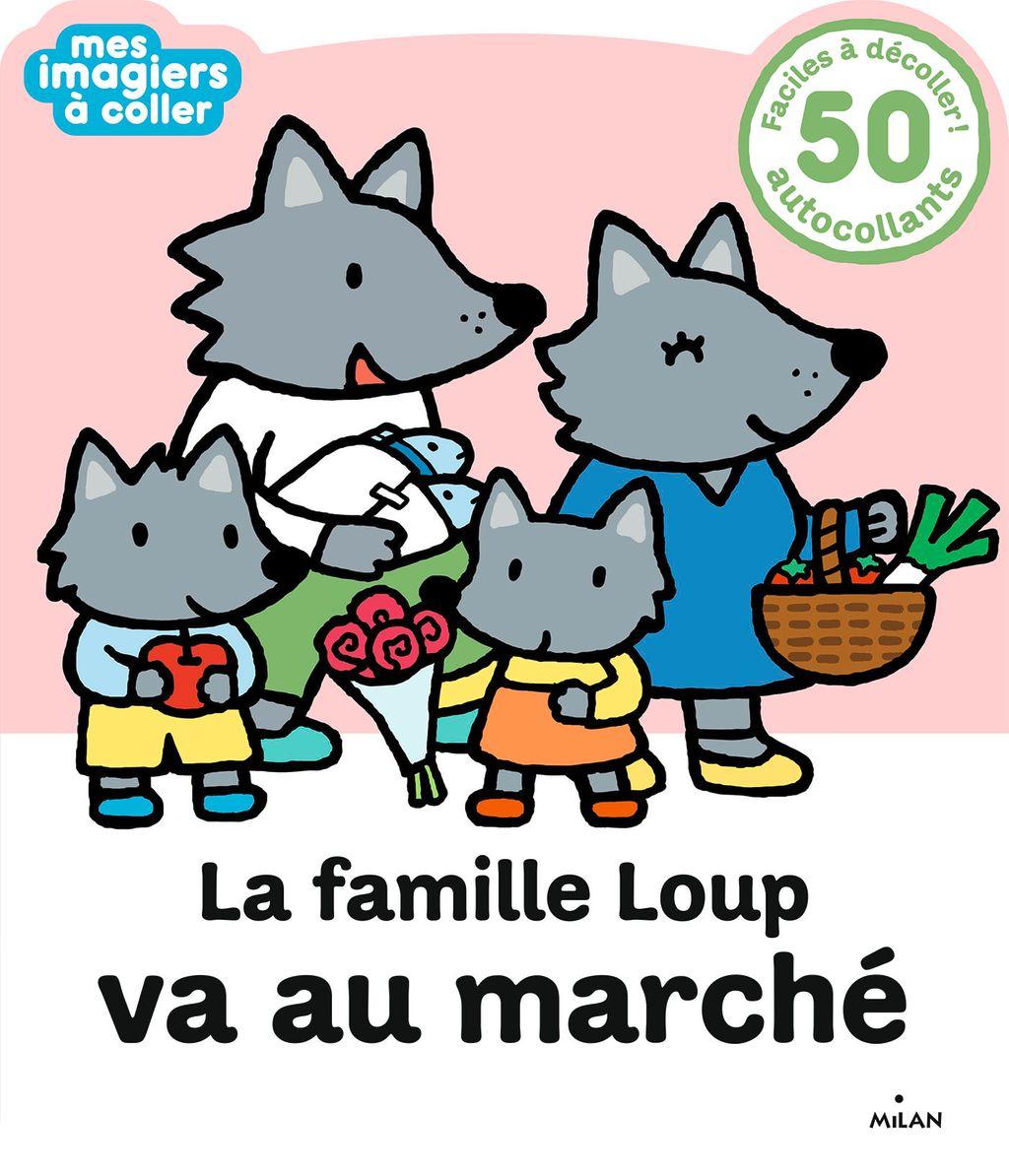 Couverture de «La famille Loup va au marché»