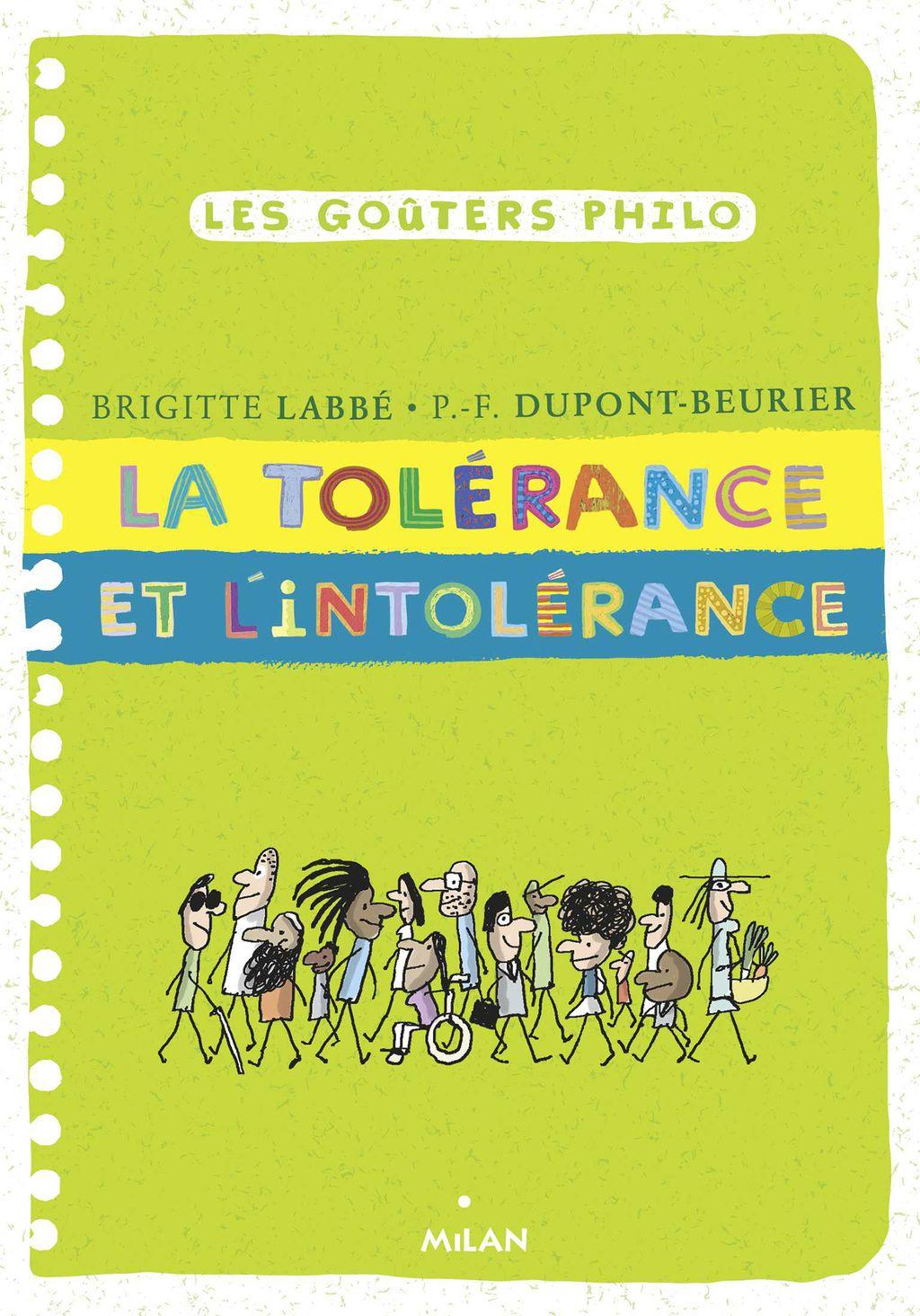 Couverture de «La tolérance et l'intolérance»