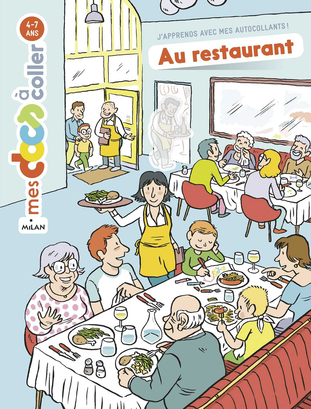 Couverture de « Au restaurant »
