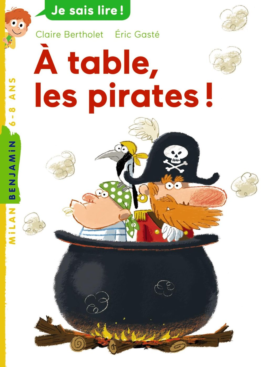 Couverture de « À table, les pirates ! »