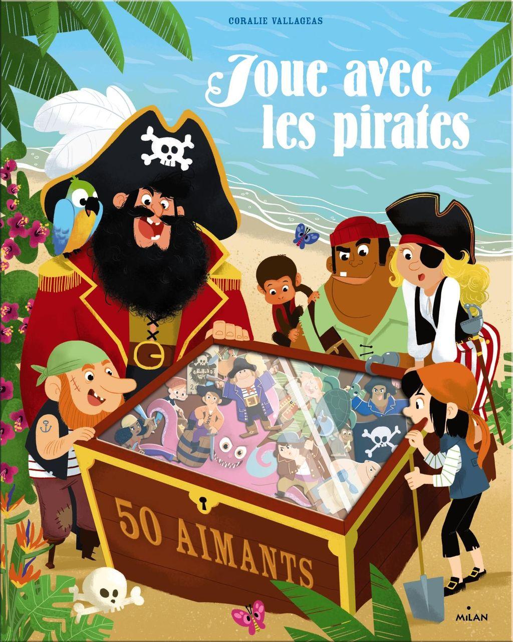 Couverture de «Joue avec les pirates – 50 aimants»