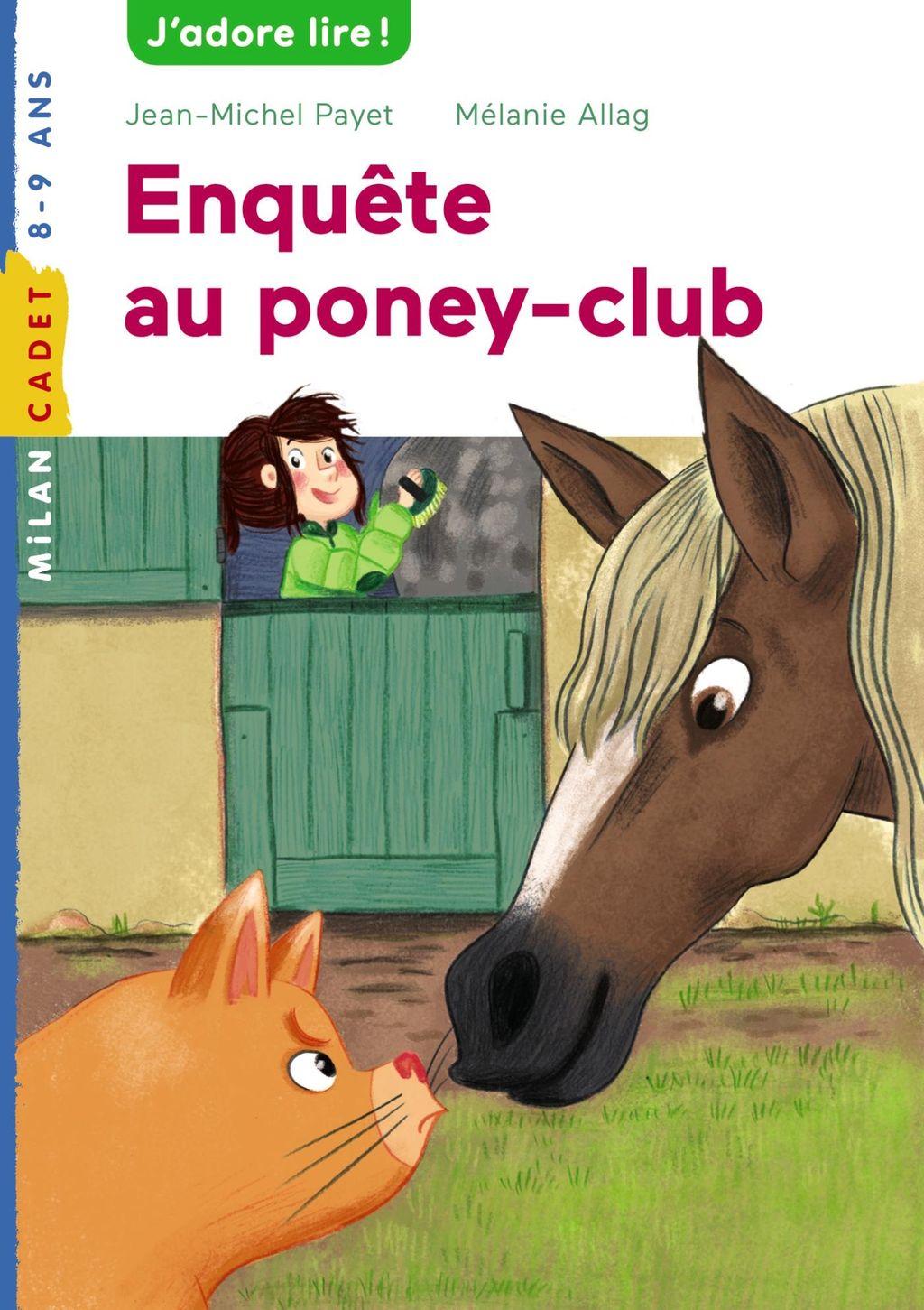 Couverture de «Enquête au poney club»