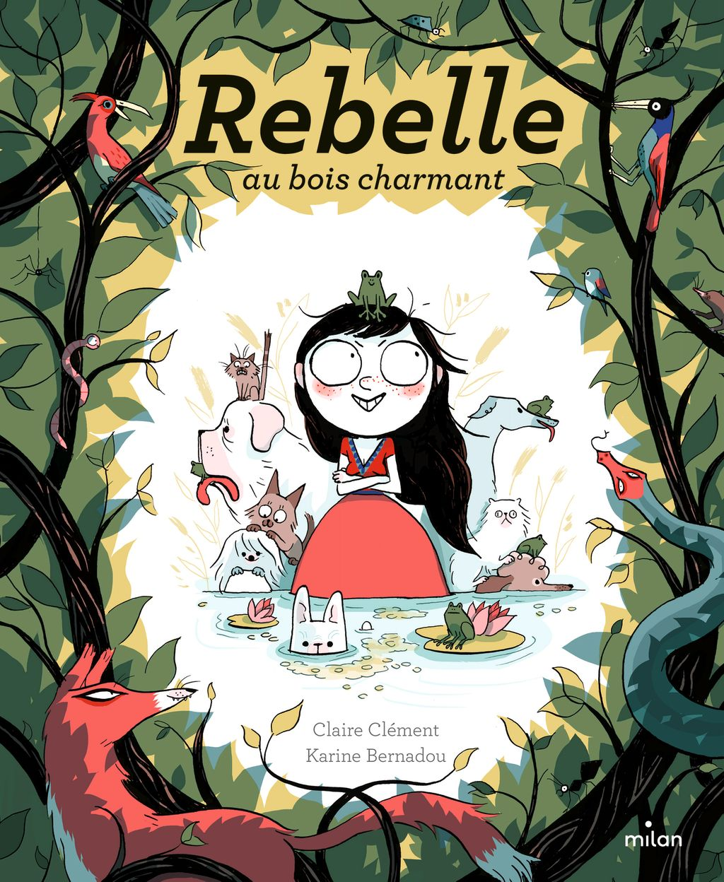 Couverture de « Rebelle au bois charmant »