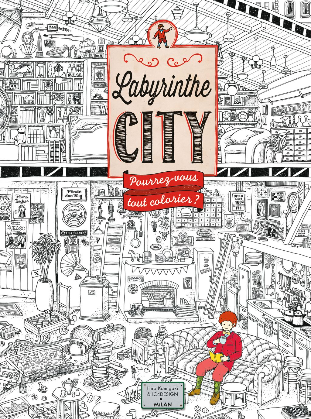 Couverture de « Labyrinthe City – Le coloriage »
