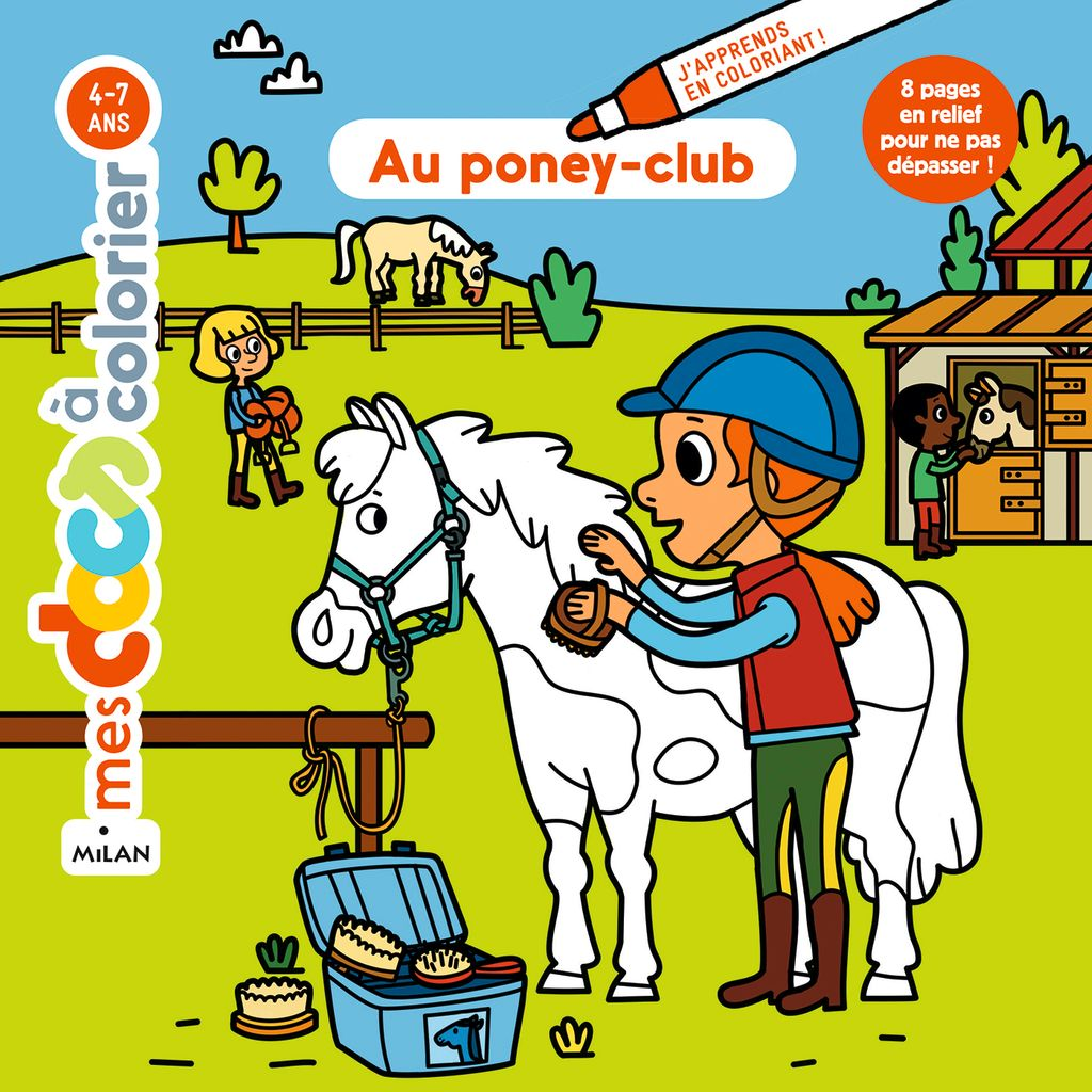 Couverture de « Au poney-club »