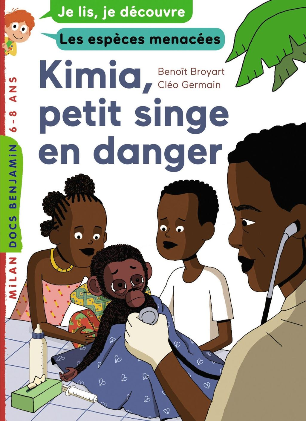 «Kimia, petit singe en danger» cover