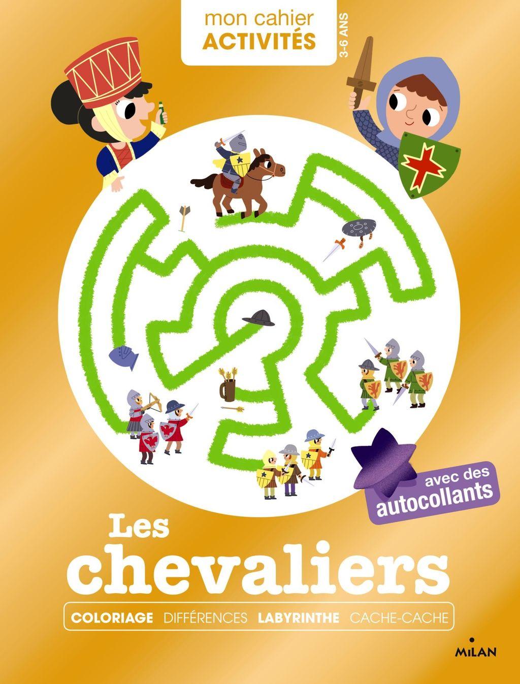 «Mon cahier d'activités – Les chevaliers» cover