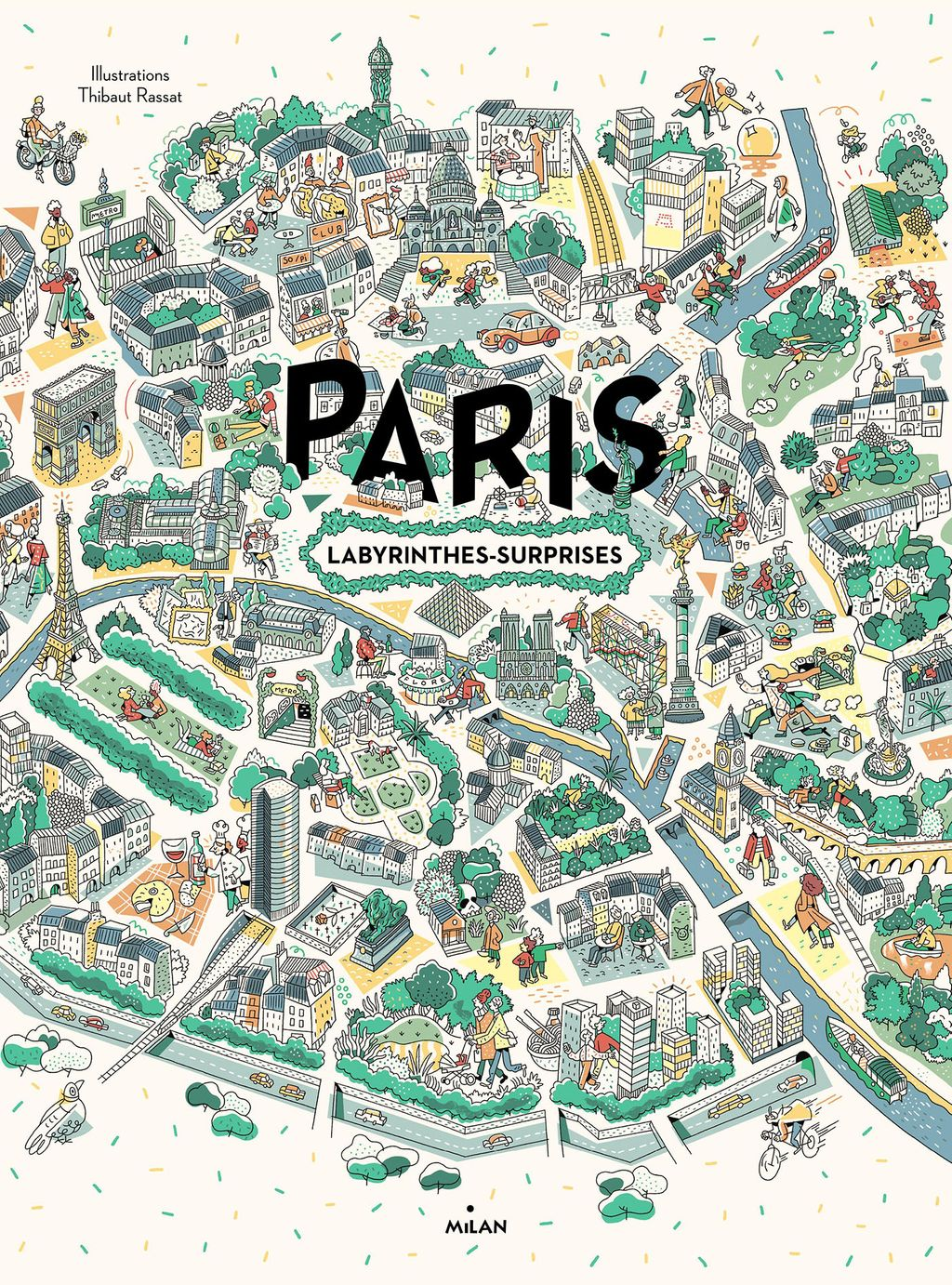 Couverture de « Paris, labyrinthes-surprises »