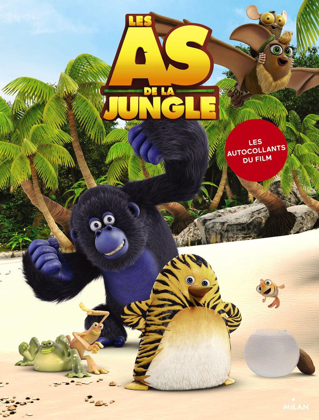Couverture de «Les As de la jungle – Livre autocollants»