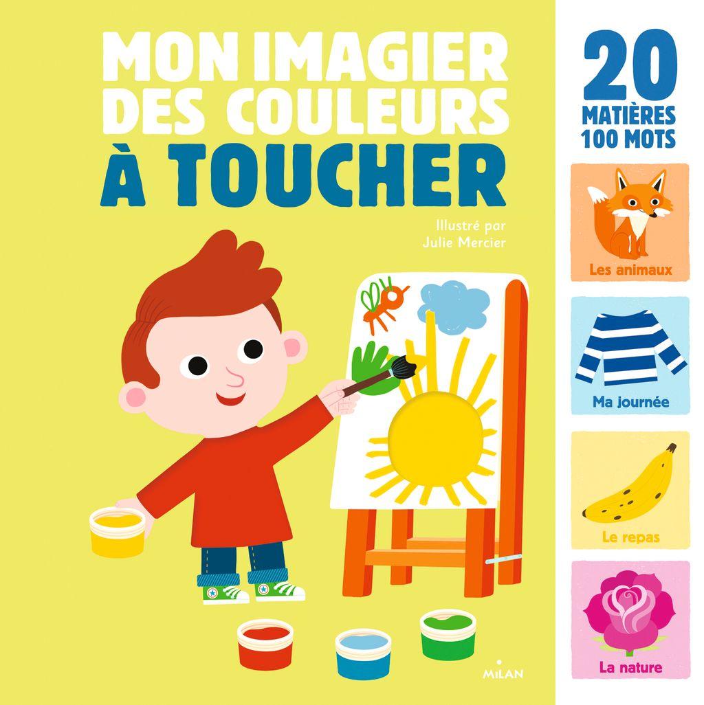 Couverture de «Mon grand imagier des couleurs à toucher»