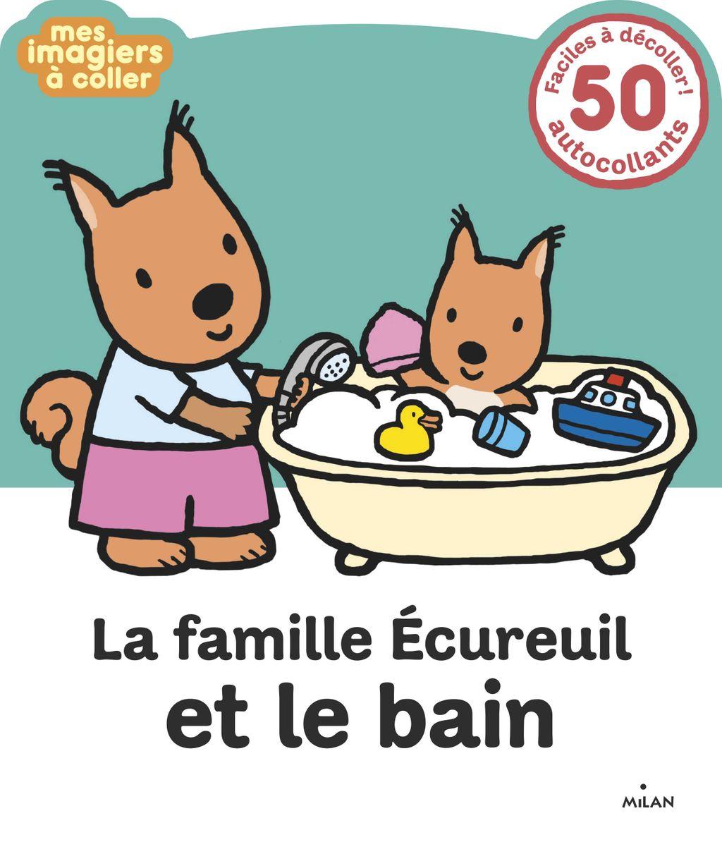 Couverture de «La famille Écureuil et le bain»