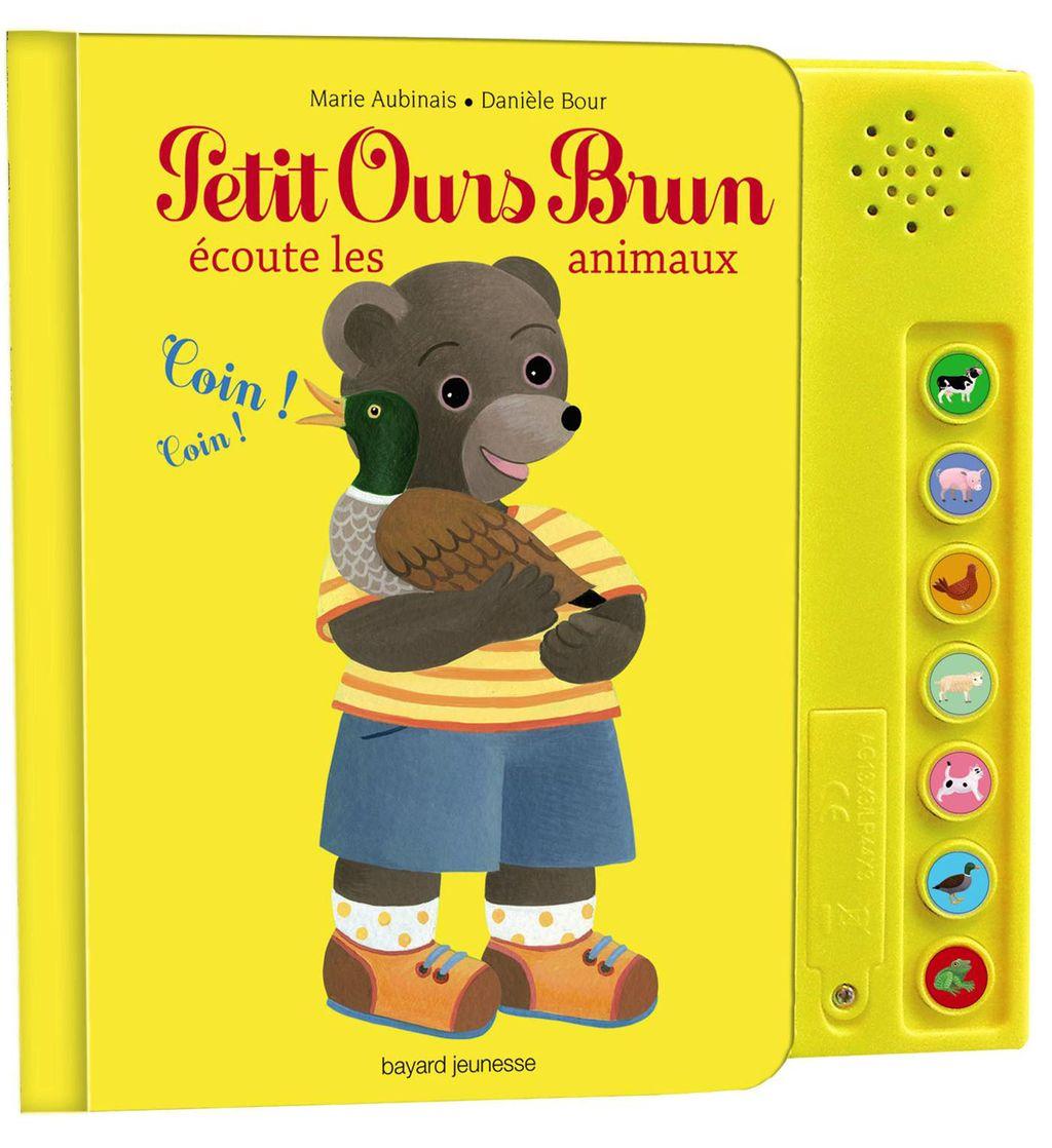 Couverture de «Petit Ours Brun écoute les animaux – livre sonore»