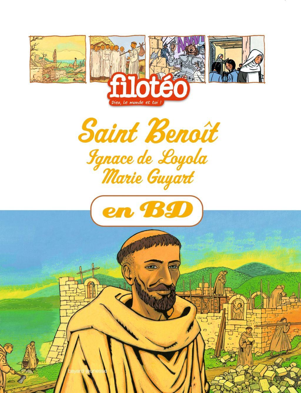 Couverture de «Saint Benoît, Ignace de Loyola, Marie Guyart, en BD»