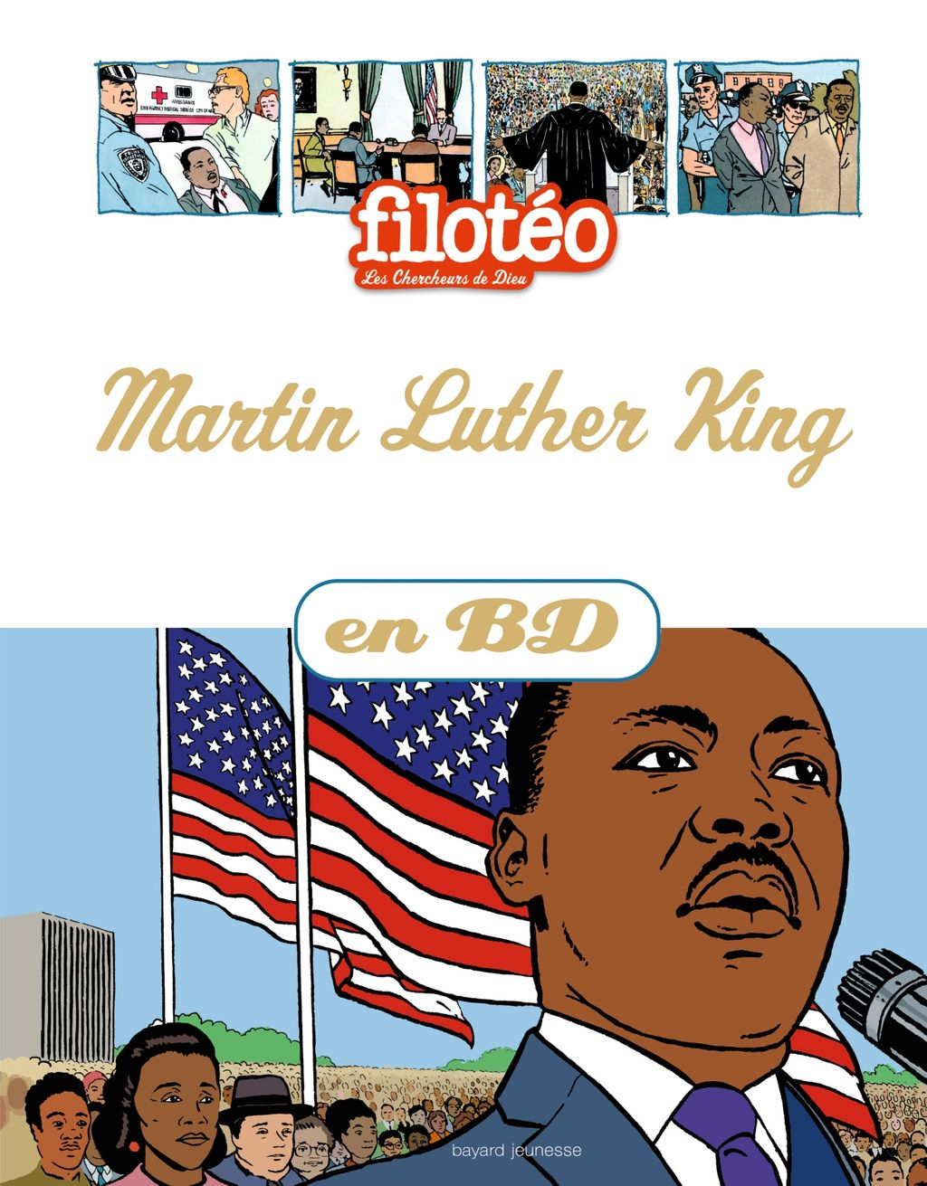 Couverture de « Martin Luther King en BD »