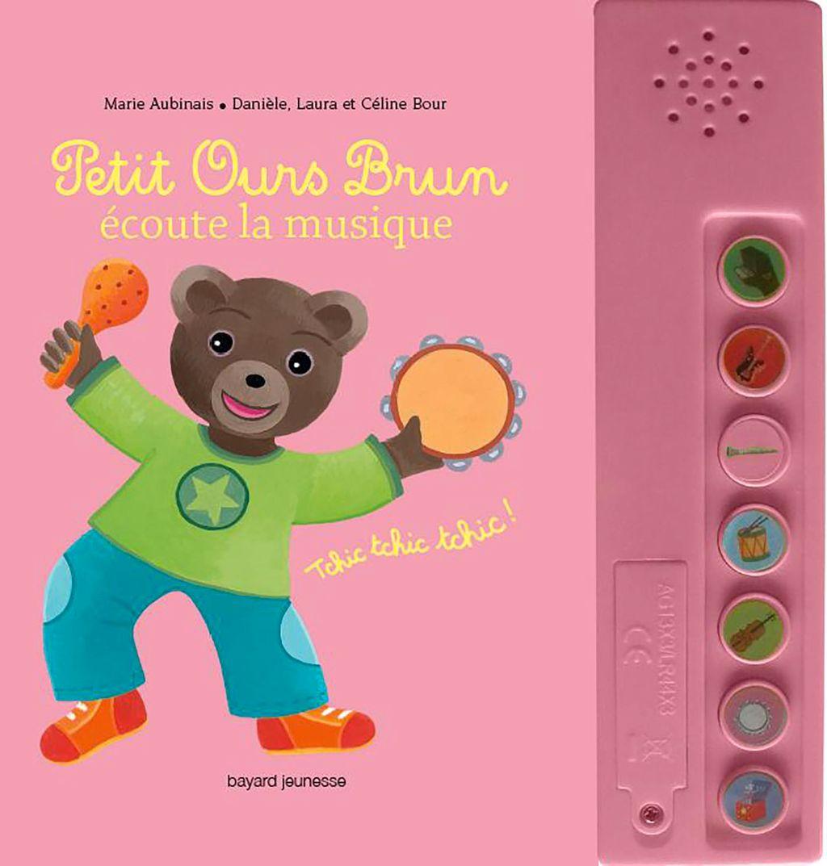 Couverture de «Petit Ours Brun écoute la musique – livre sonore»