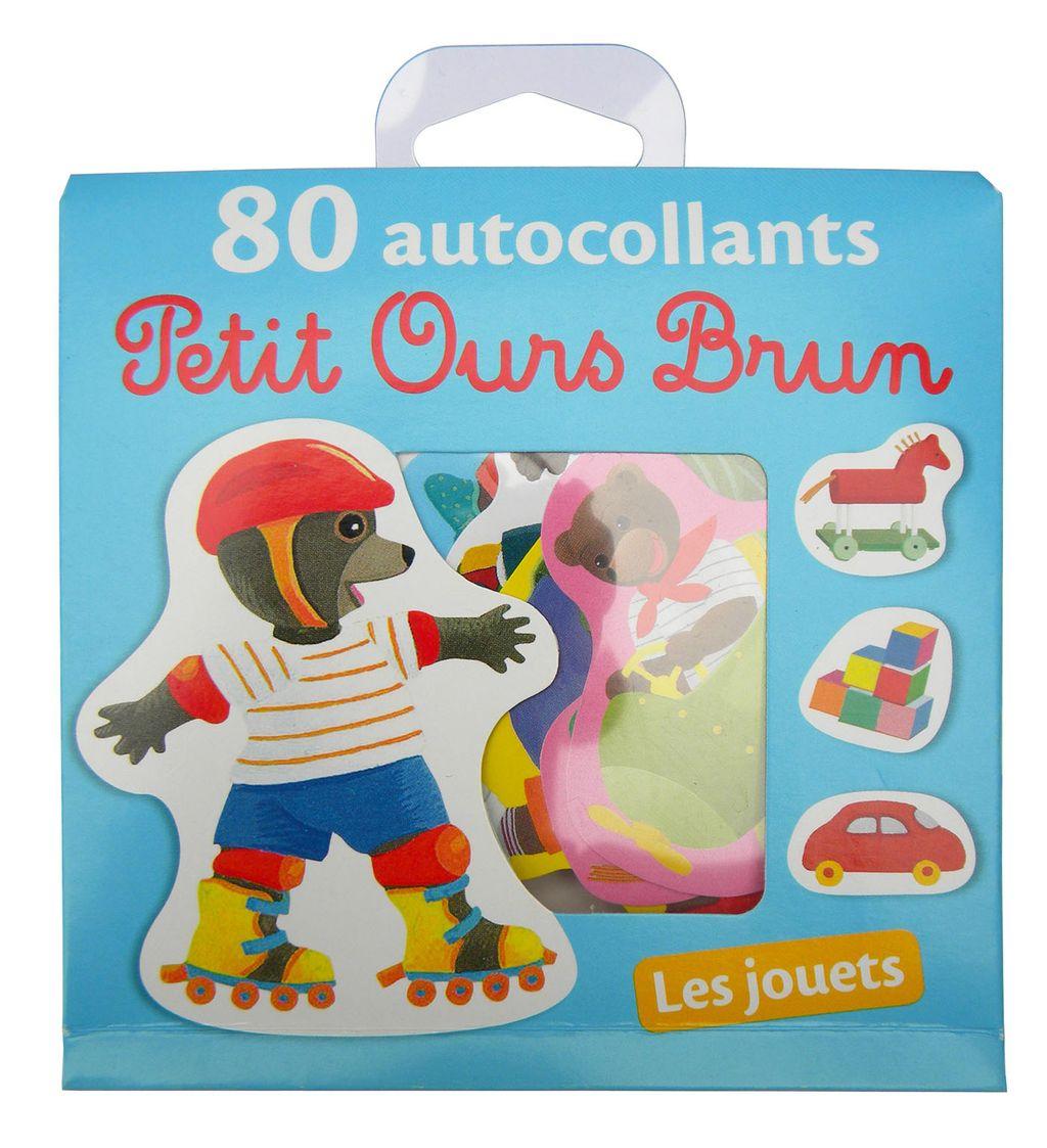 Couverture de «Les jouets – 80 autocollants Petit Ours Brun»