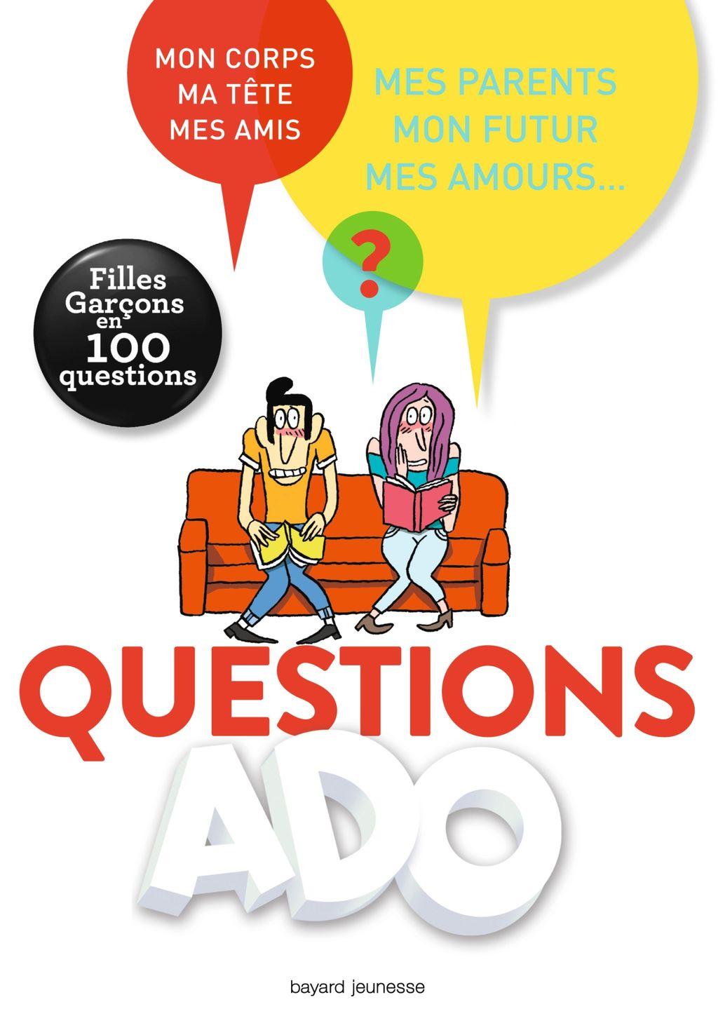 Couverture de «Questions ado filles-garçons en 100 questions»