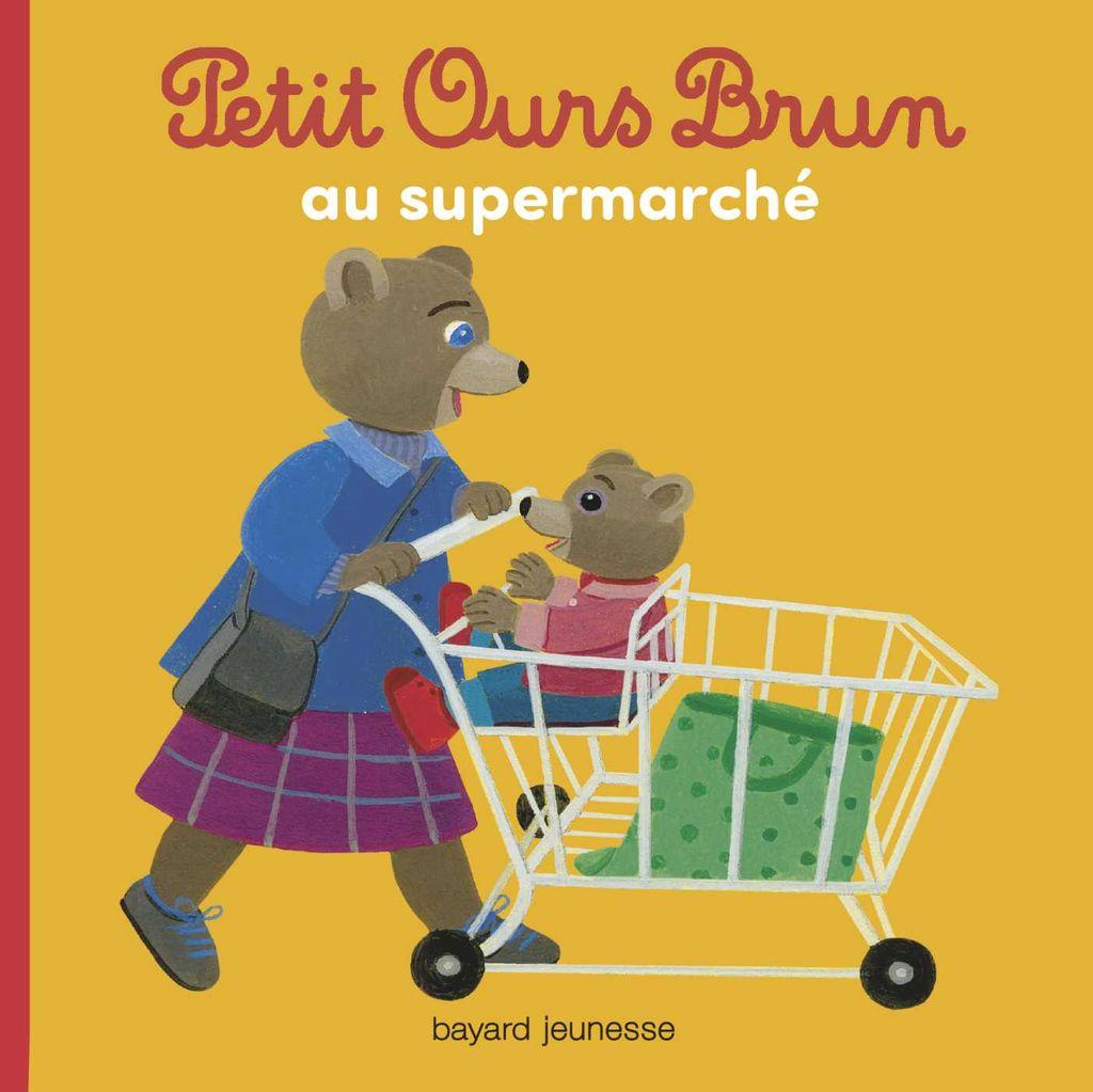 Couverture de «Petit Ours Brun au supermarché»