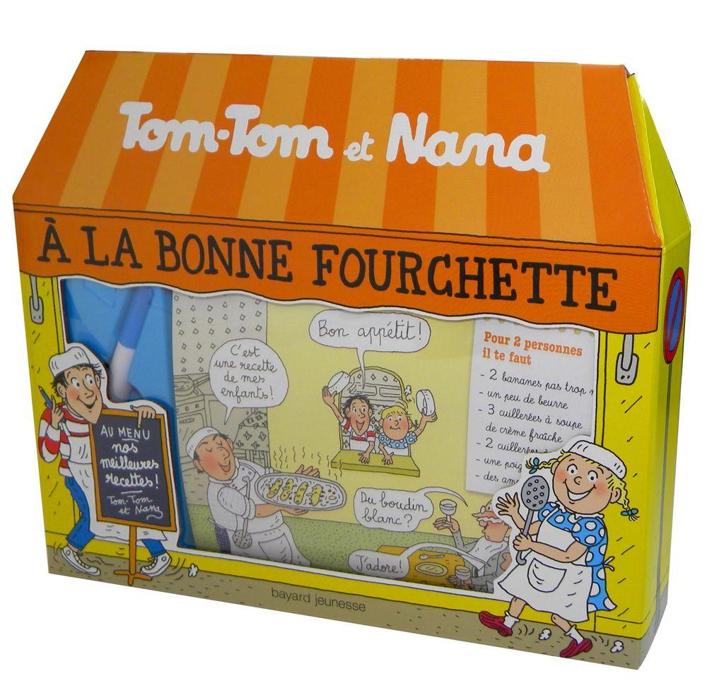 Couverture de «À la Bonne Fourchette – coffret Tom-Tom et Nana»