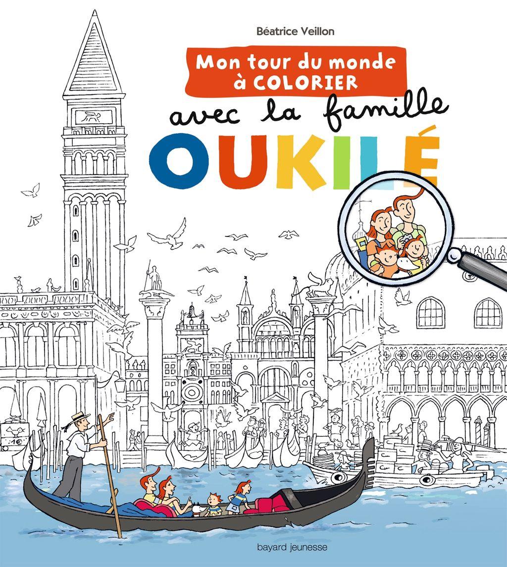 «Mon tour du monde à colorier avec la Famile Oukilé» cover