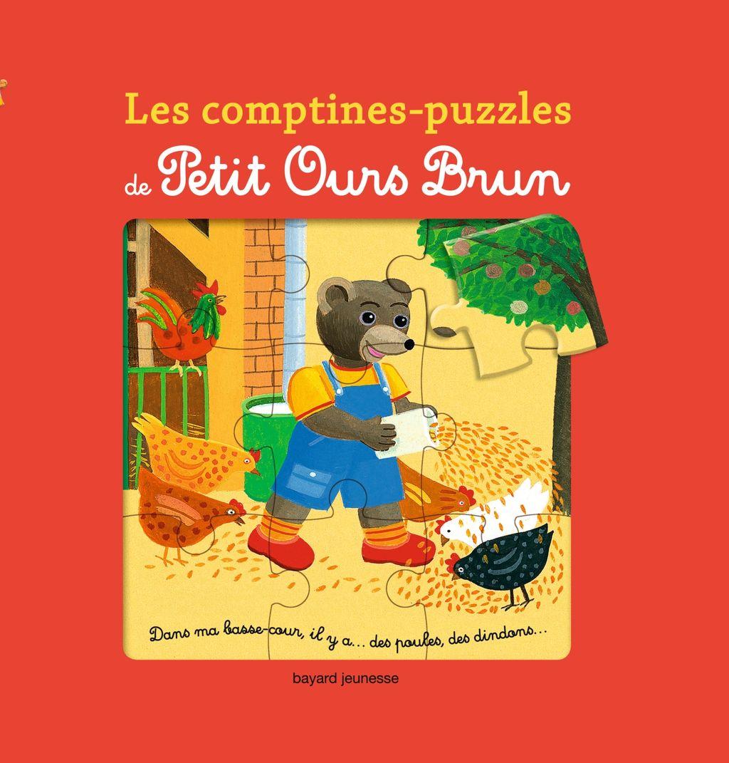 Couverture de «Les comptines-puzzles de Petit Ours Brun»