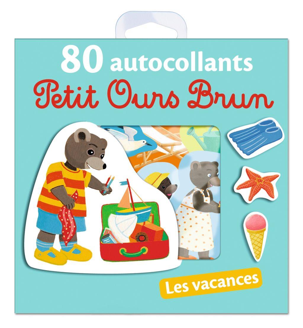 Couverture de «Les vacances – 80 autocollants Petit Ours Brun»