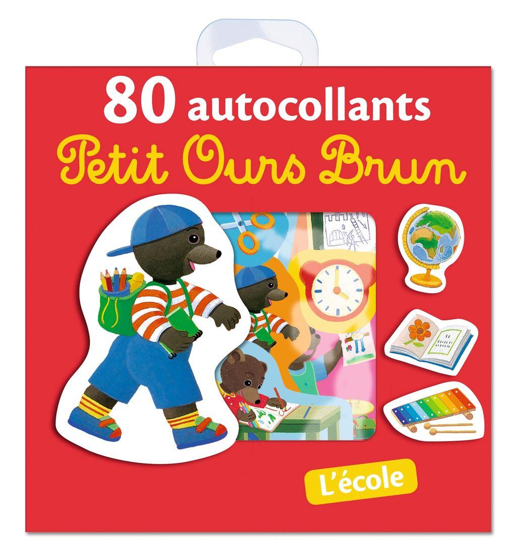 «L'école – 80 autocollants Petit Ours Brun» cover