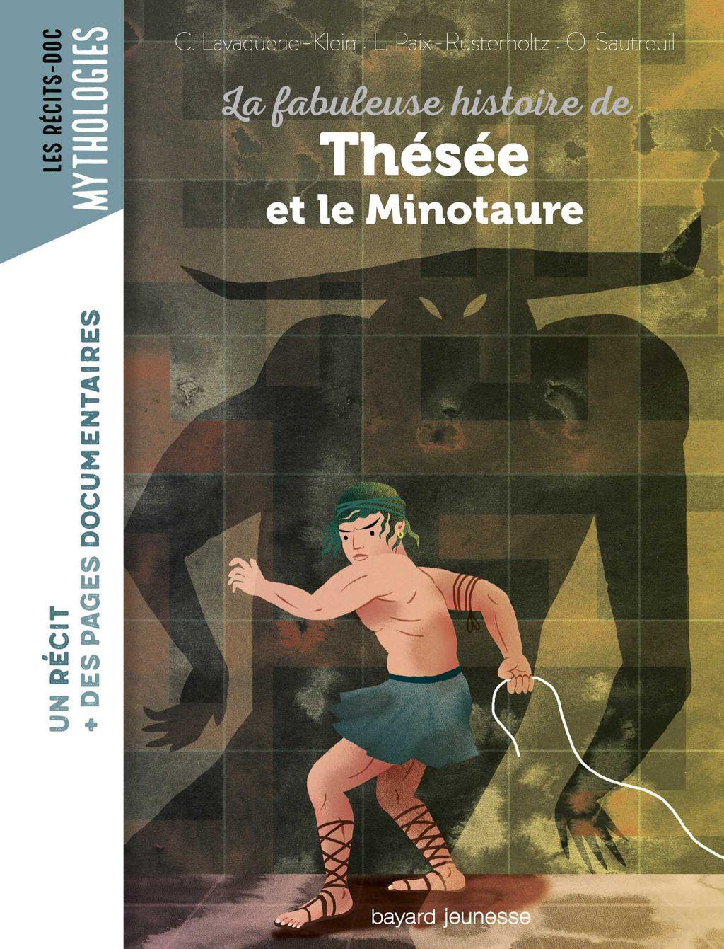 «La fabuleuse histoire de Thésée et le minotaure» cover