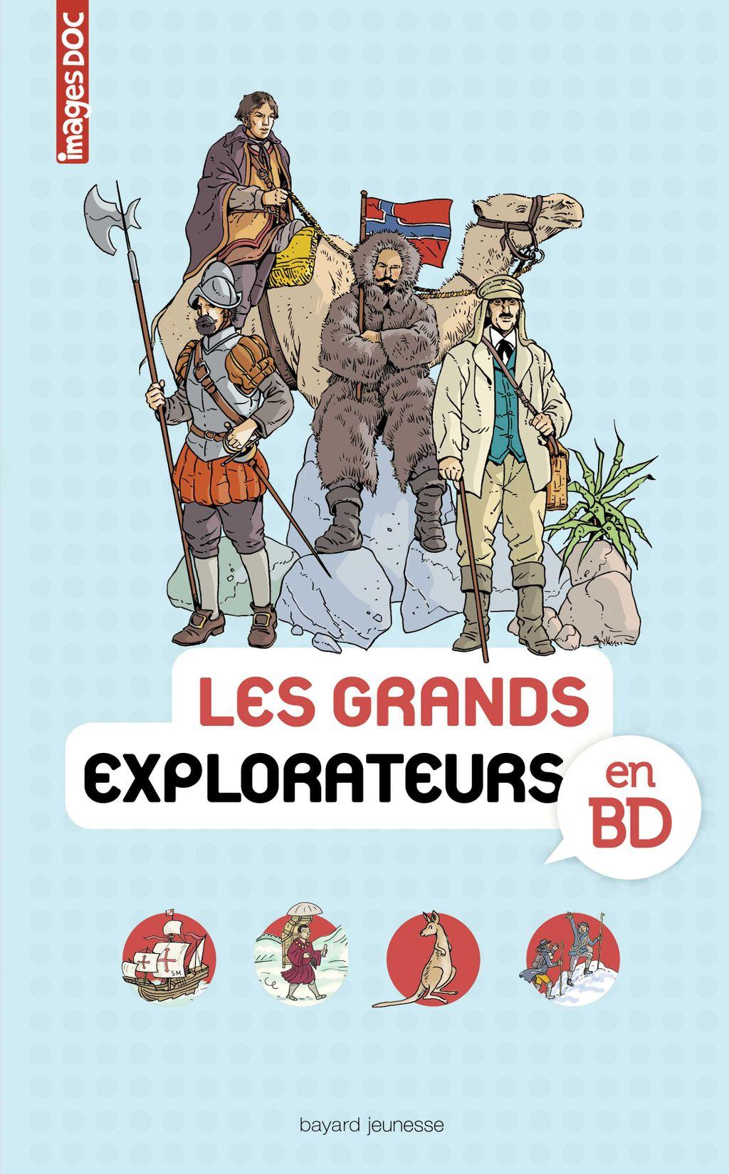 «Les grands explorateurs en BD» cover