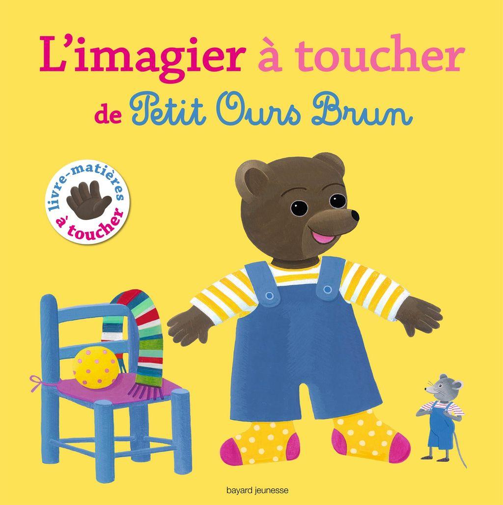 Couverture de «Le grand imagier à toucher de Petit Ours Brun»