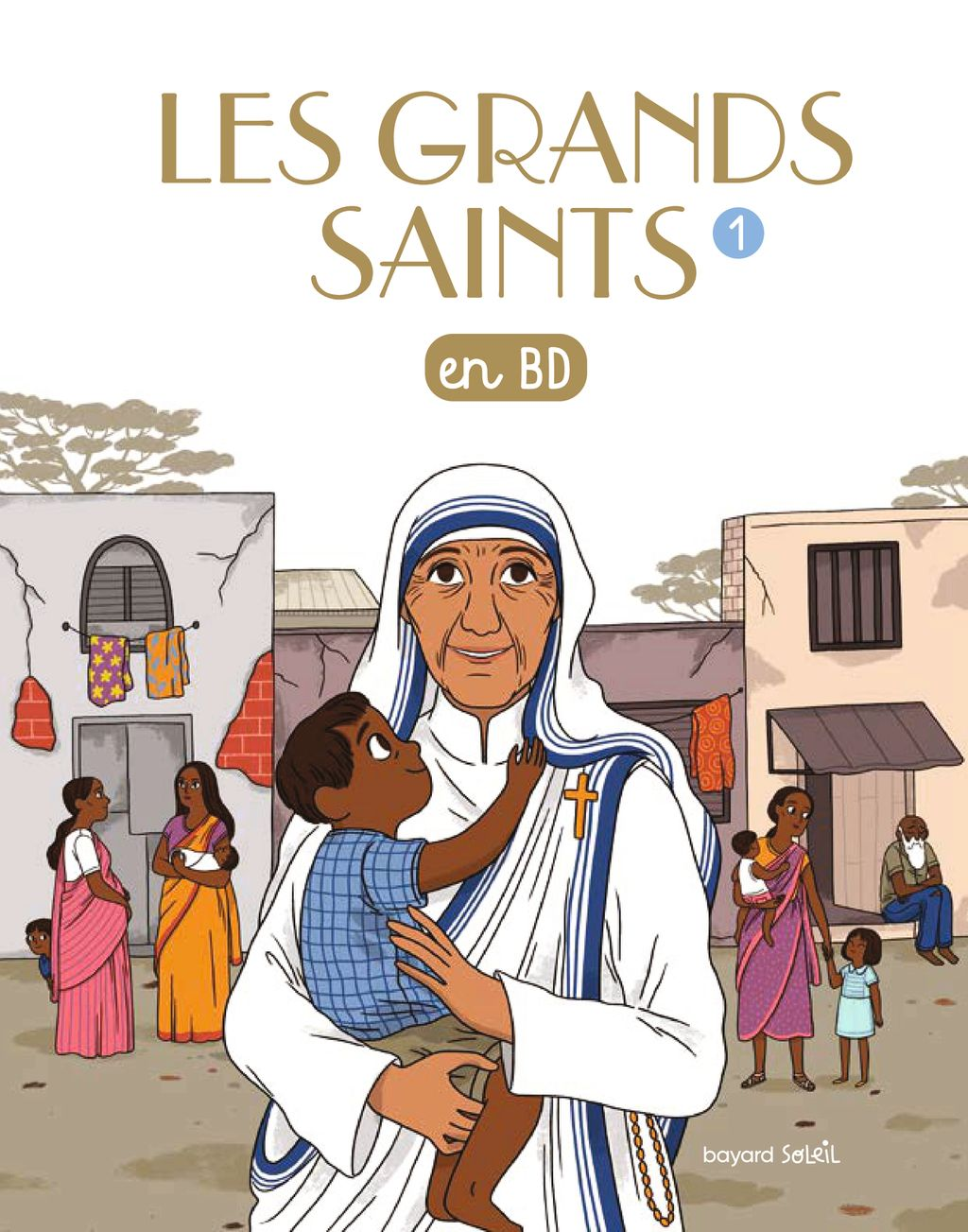 Couverture de « Les grands saints en BD »