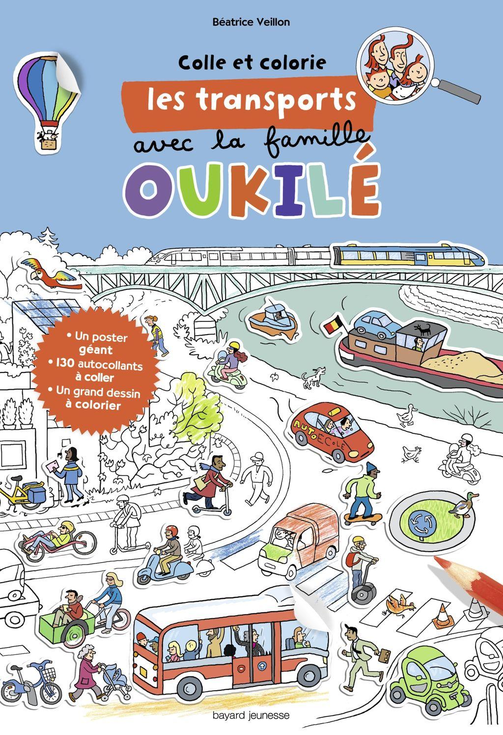 «Colle et colorie les transports avec la famille Oukilé» cover