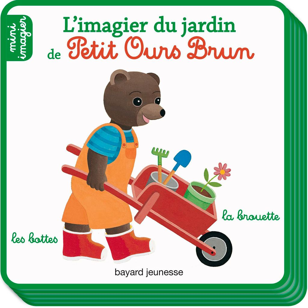 Couverture de «L'imagier du jardin de Petit Ours Brun»