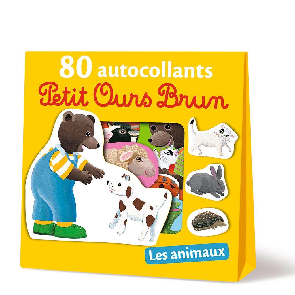 Couverture de «Les animaux – 80 autocollants Petit Ours Brun»