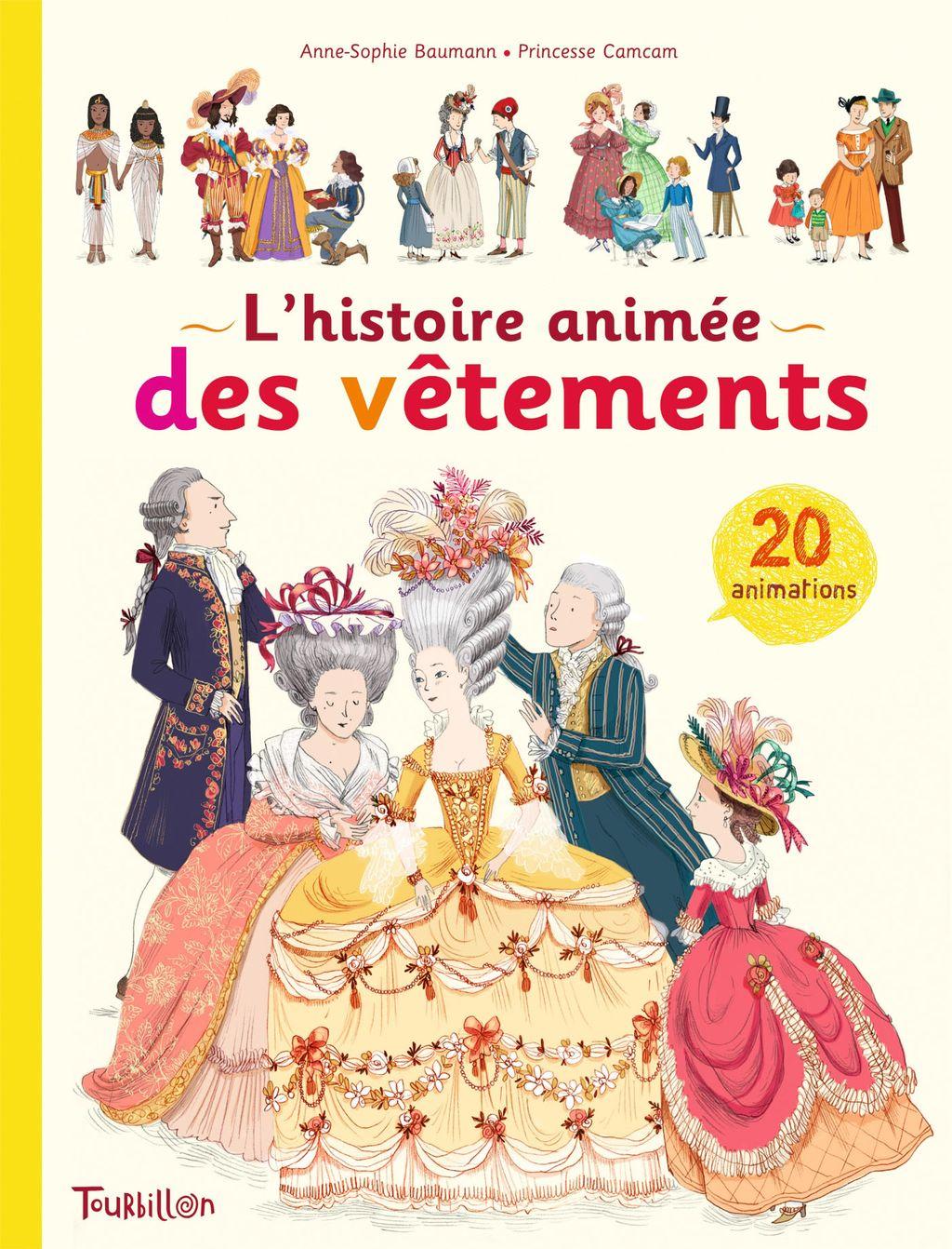 «La grande histoire animée des vêtements» cover