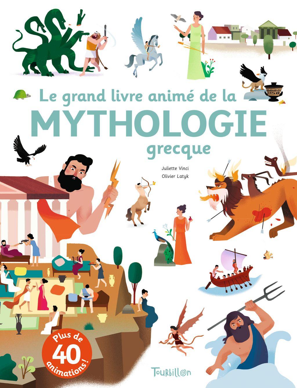 Couverture de «Le grand livre animé de la mythologie grecque»