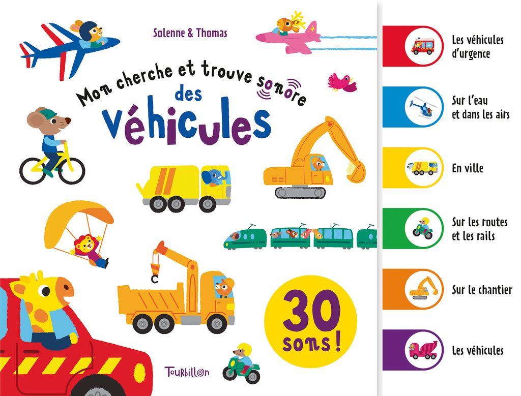 Couverture de «Mon cherche et trouve sonore des véhicules»