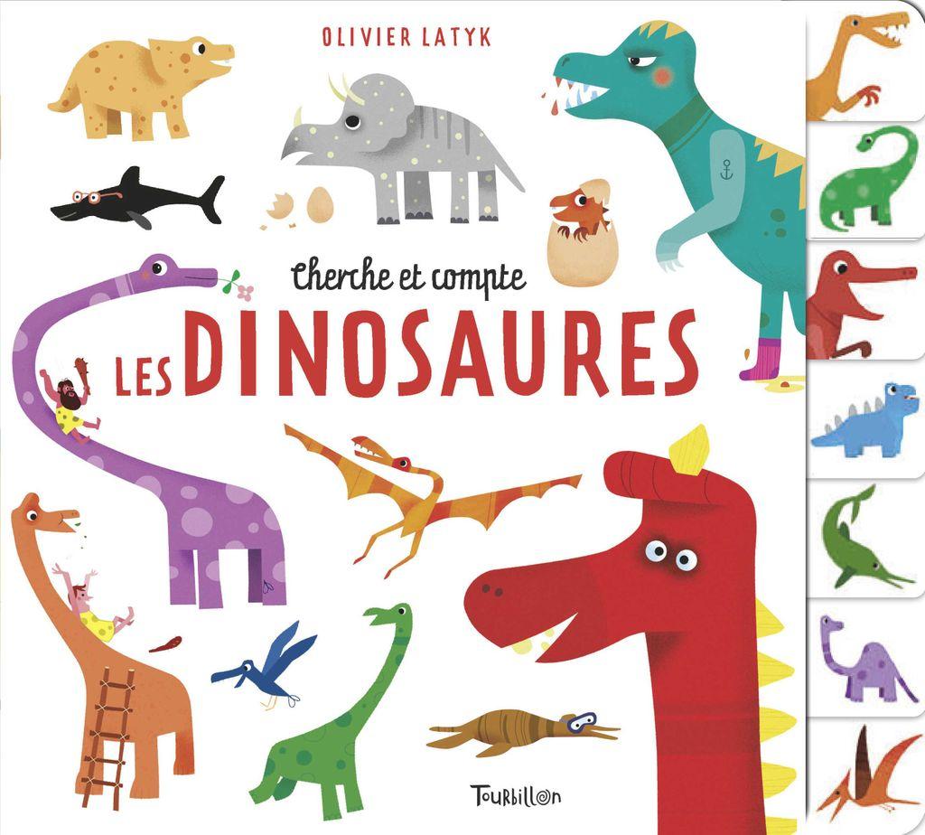 Couverture de «Cherche et compte les dinosaures»