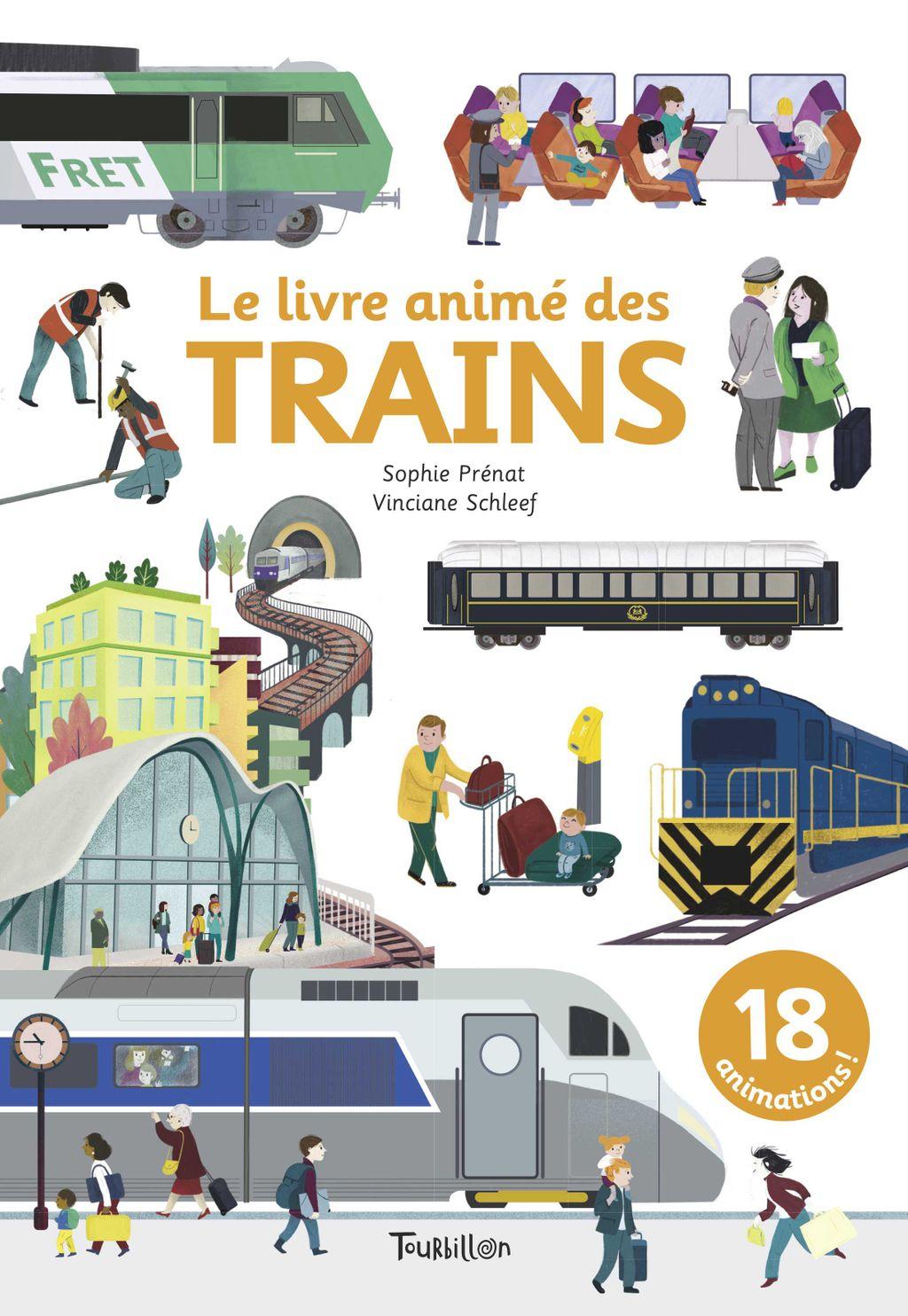 Couverture de «Le livre animé des trains»