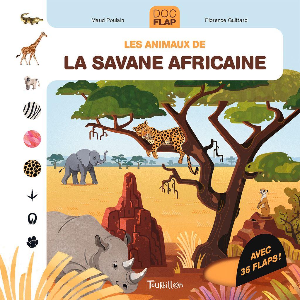 Couverture de «Les animaux de la savane africaine»