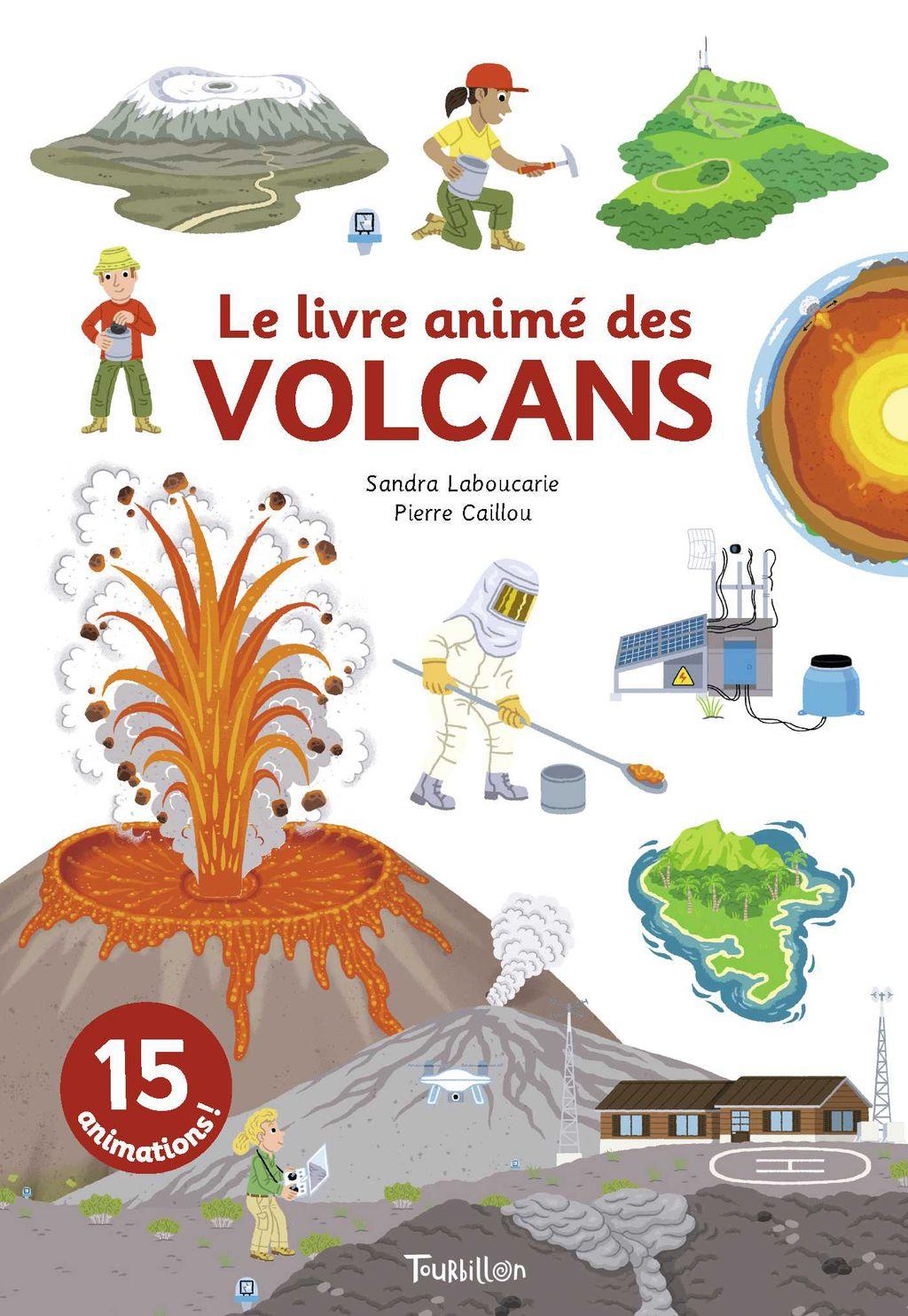 Couverture de «Le livre animé des volcans»