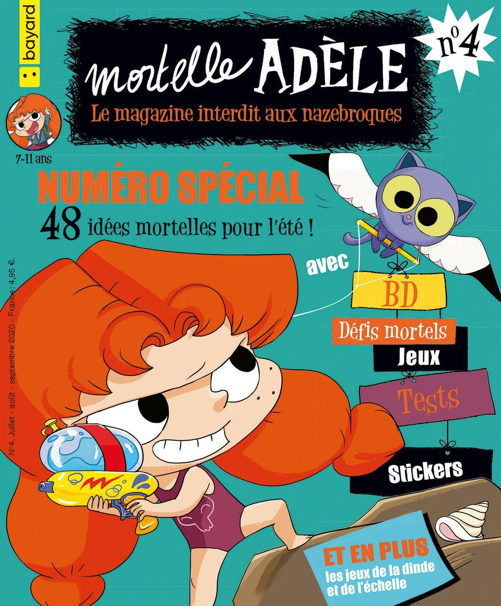 Couverture de «Magazine Mortelle Adèle n°4»