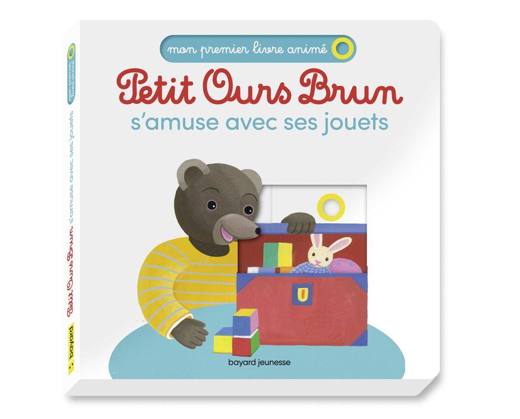 Couverture de «Petit Ours Brun s'amuse avec ses jouets – Mon premier livre animé»