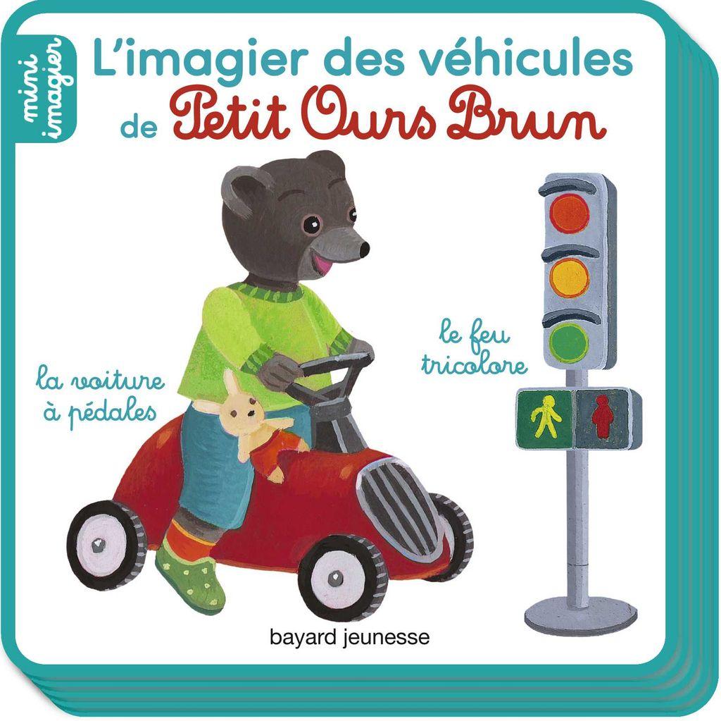 Couverture de «L'imagier des véhicules de Petit Ours Brun»