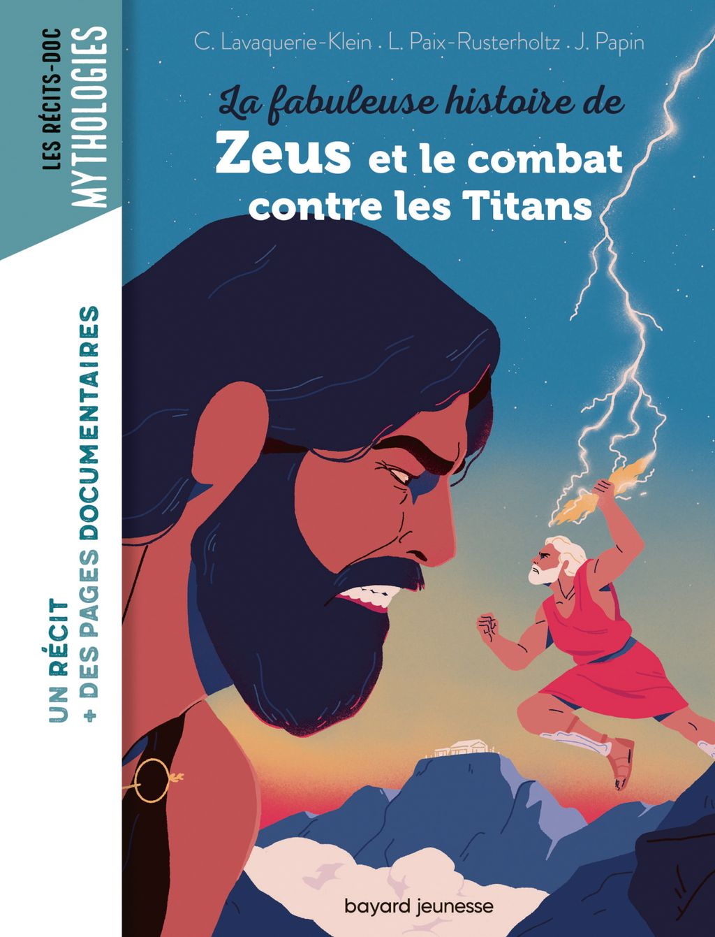 Couverture de «La fabuleuse histoire de Zeus et le combat contre les Titans»