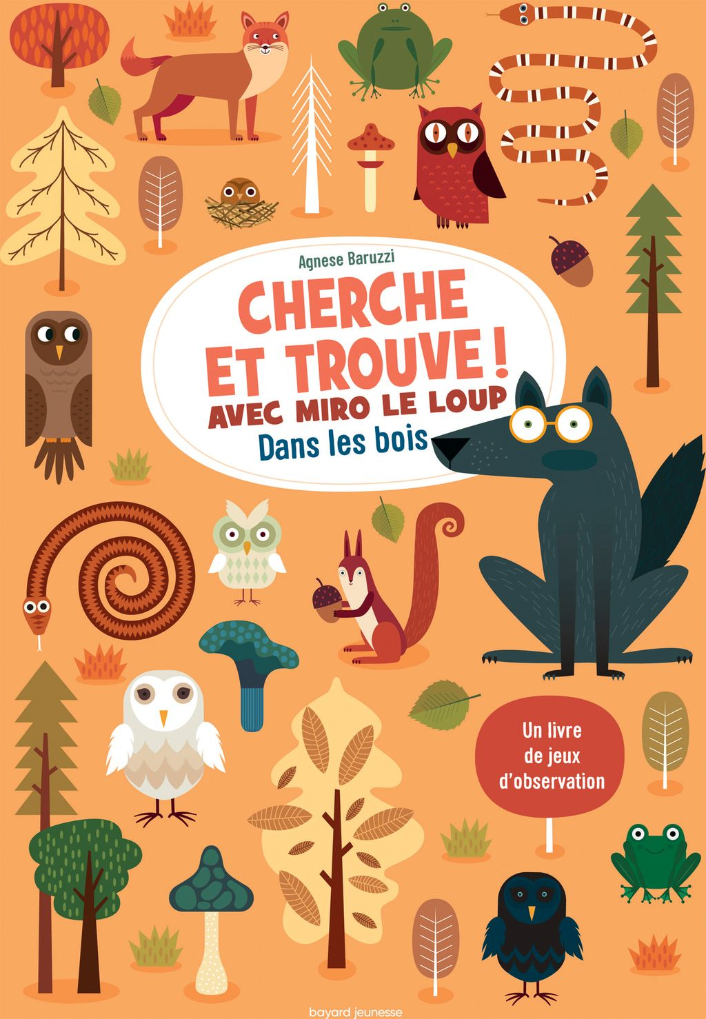 Couverture de «Cherche et trouve ! Avec Miro le loup dans les bois»